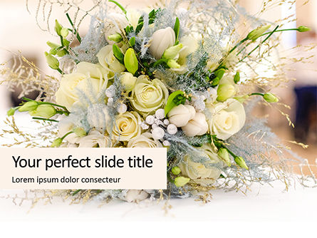 Holiday/Special Occasion: Modelo de PowerPoint Grátis - beautiful wedding bouquet of flowers of the bride presentation #16624