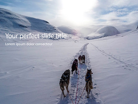 Nature & Environment: Plantilla de PowerPoint gratis - dog sledding presentation #16636