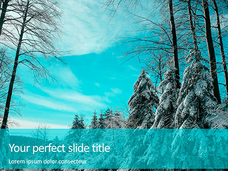 Nature & Environment: Landscape with snowy trees presentation Kostenlose PowerPoint Vorlage #16650