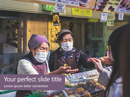 People: Shopkeeper Using Mask Presentation Gratis Powerpoint Template #16659