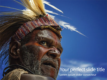 People: Indigenous Man Presentation Gratis Powerpoint Template #16660