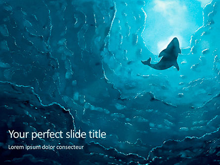 Nature & Environment: Deep Under The Ocean Presentation Gratis Powerpoint Template #16686