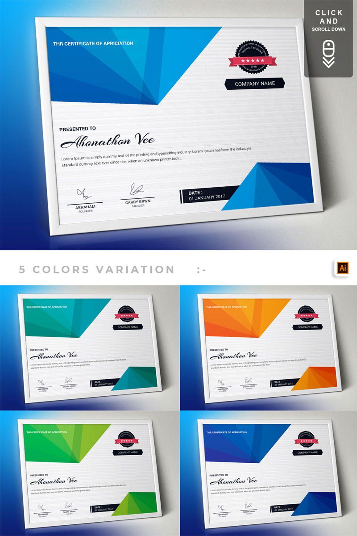 Certificate of Appreciation Template  Vol 22  Stationery In Scroll Certificate Templates