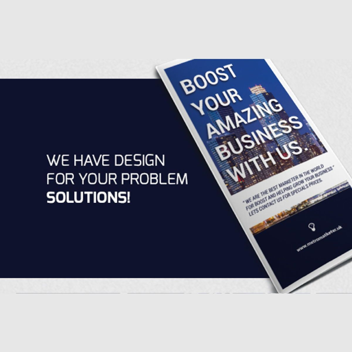 Business Company Trifold Photoshop Template, スライド 2, 08448, ビジネス — PoweredTemplate.com