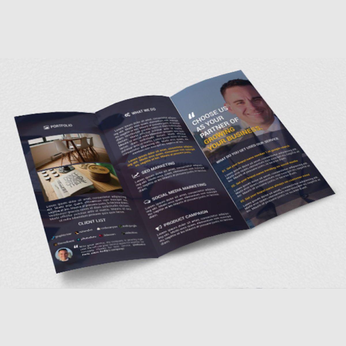 Business Company Trifold Photoshop Template, Slide 4, 08448, Business — PoweredTemplate.com