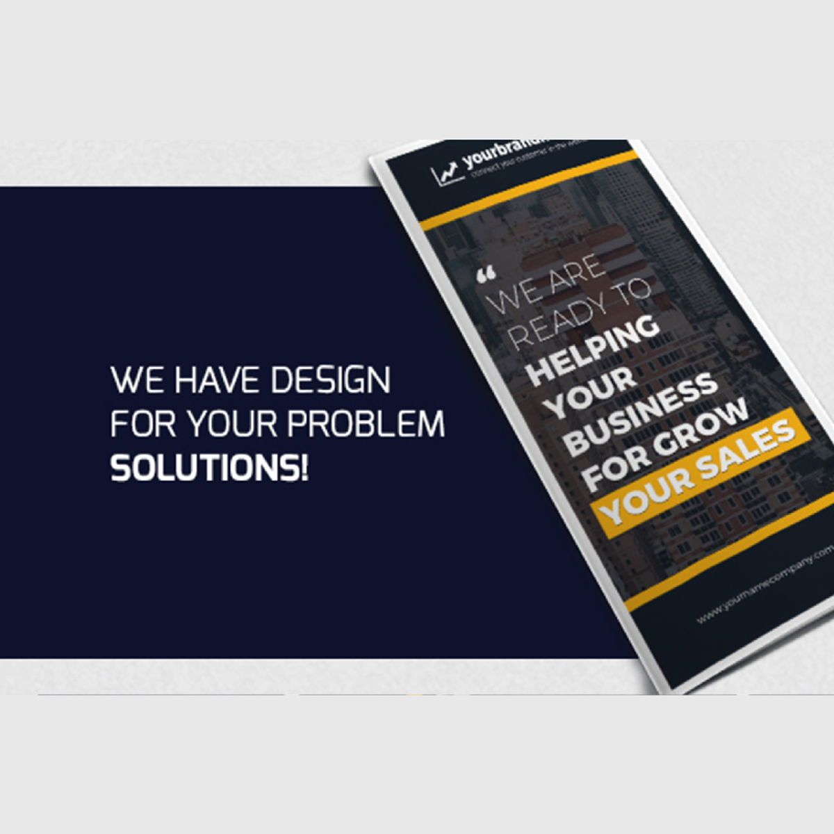 Business Company Trifold Brochure Photoshop Template, Slide 2, 08449, Business — PoweredTemplate.com
