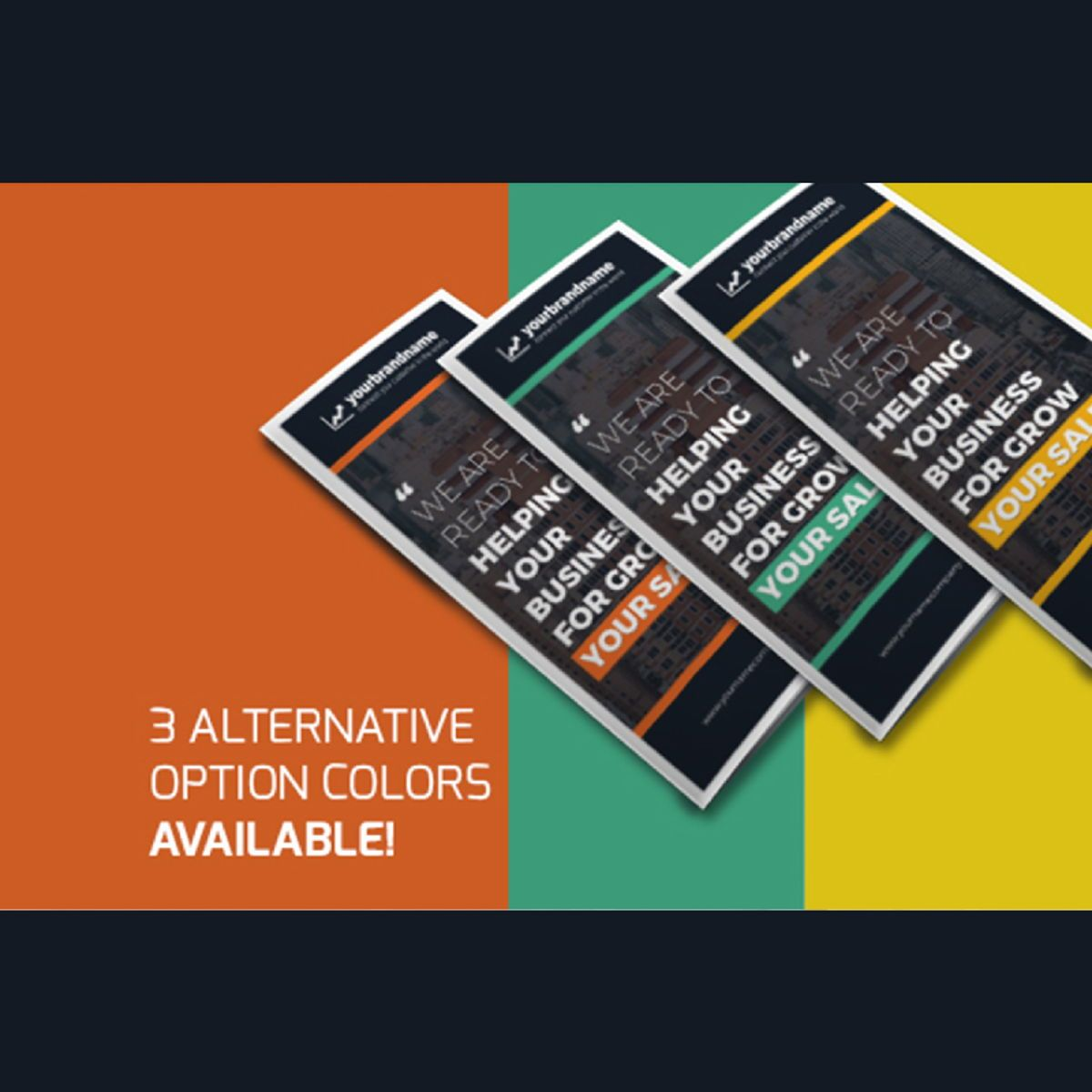 Business Company Trifold Brochure Photoshop Template, Slide 5, 08449, Business — PoweredTemplate.com