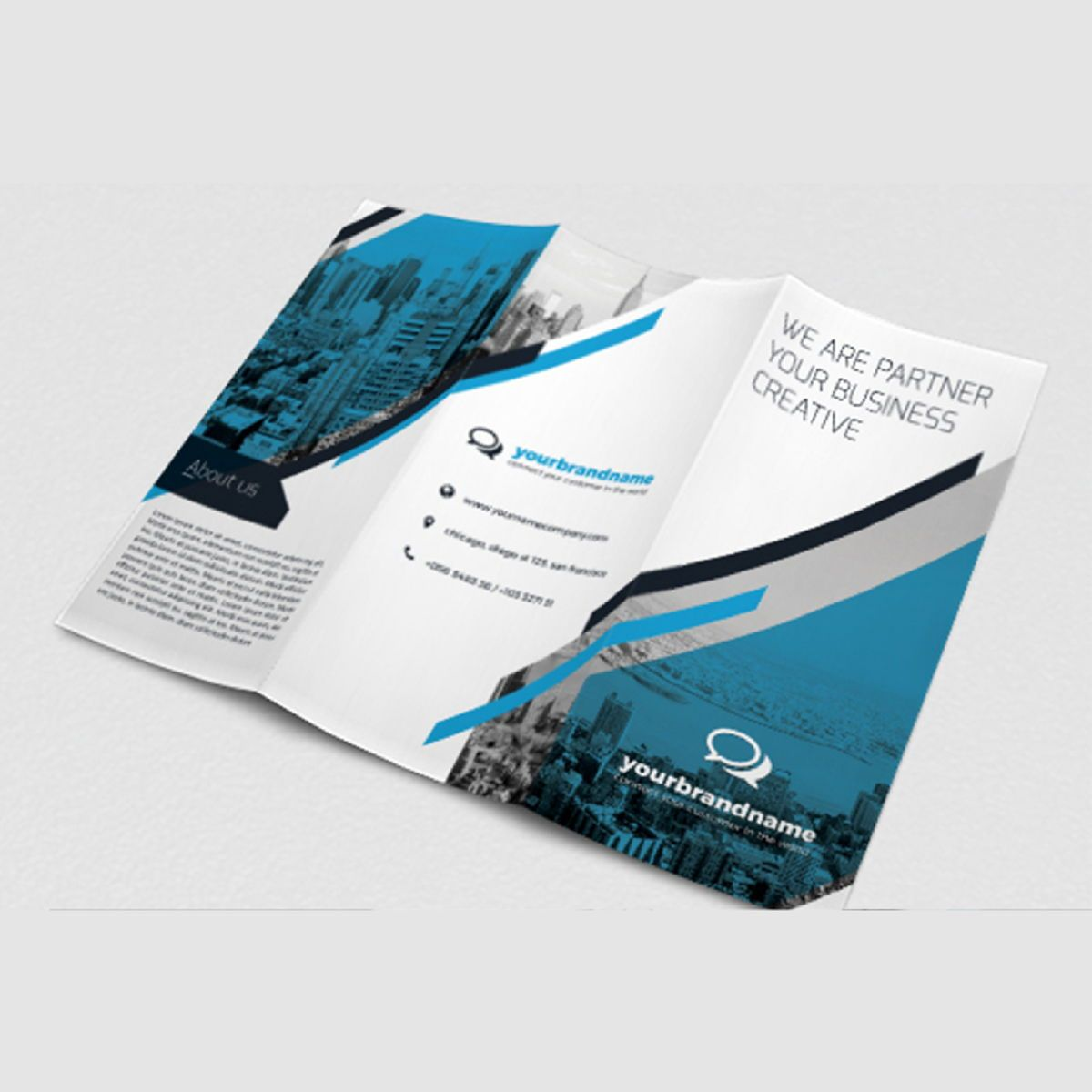 Business Brochure Trifold PSD Template, Slide 3, 08450, Business — PoweredTemplate.com