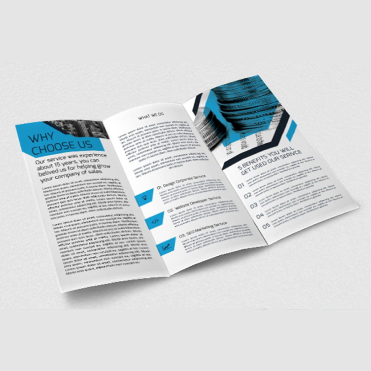 Business Brochure Trifold PSD Template, Slide 4, 08450, Business — PoweredTemplate.com