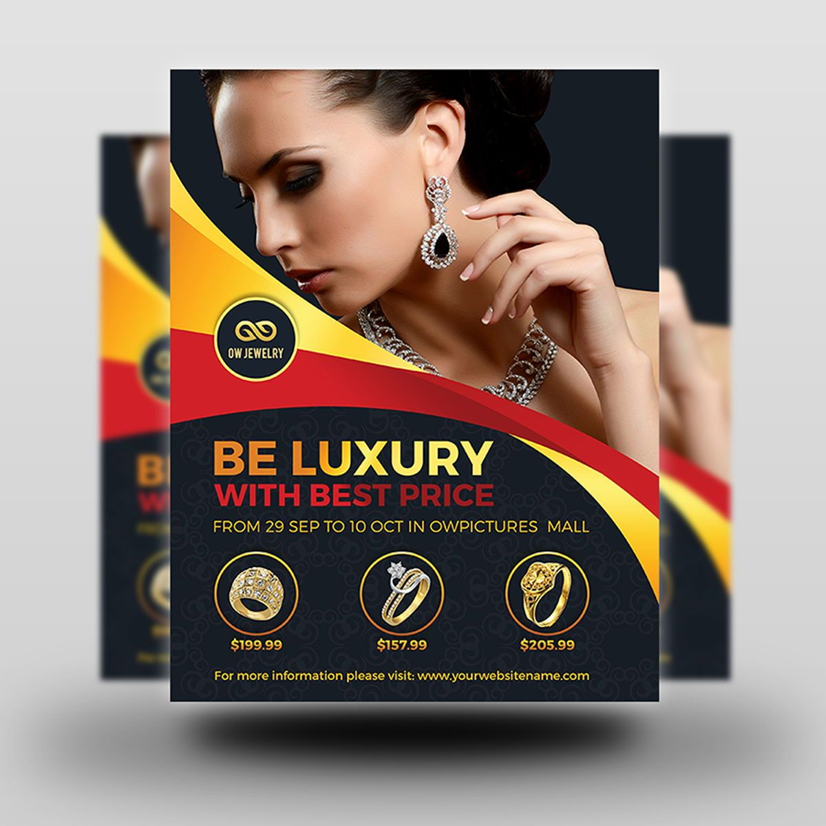 Jewelry Flyer Template, Diapositive 2, 08453, Concepts commerciaux — PoweredTemplate.com