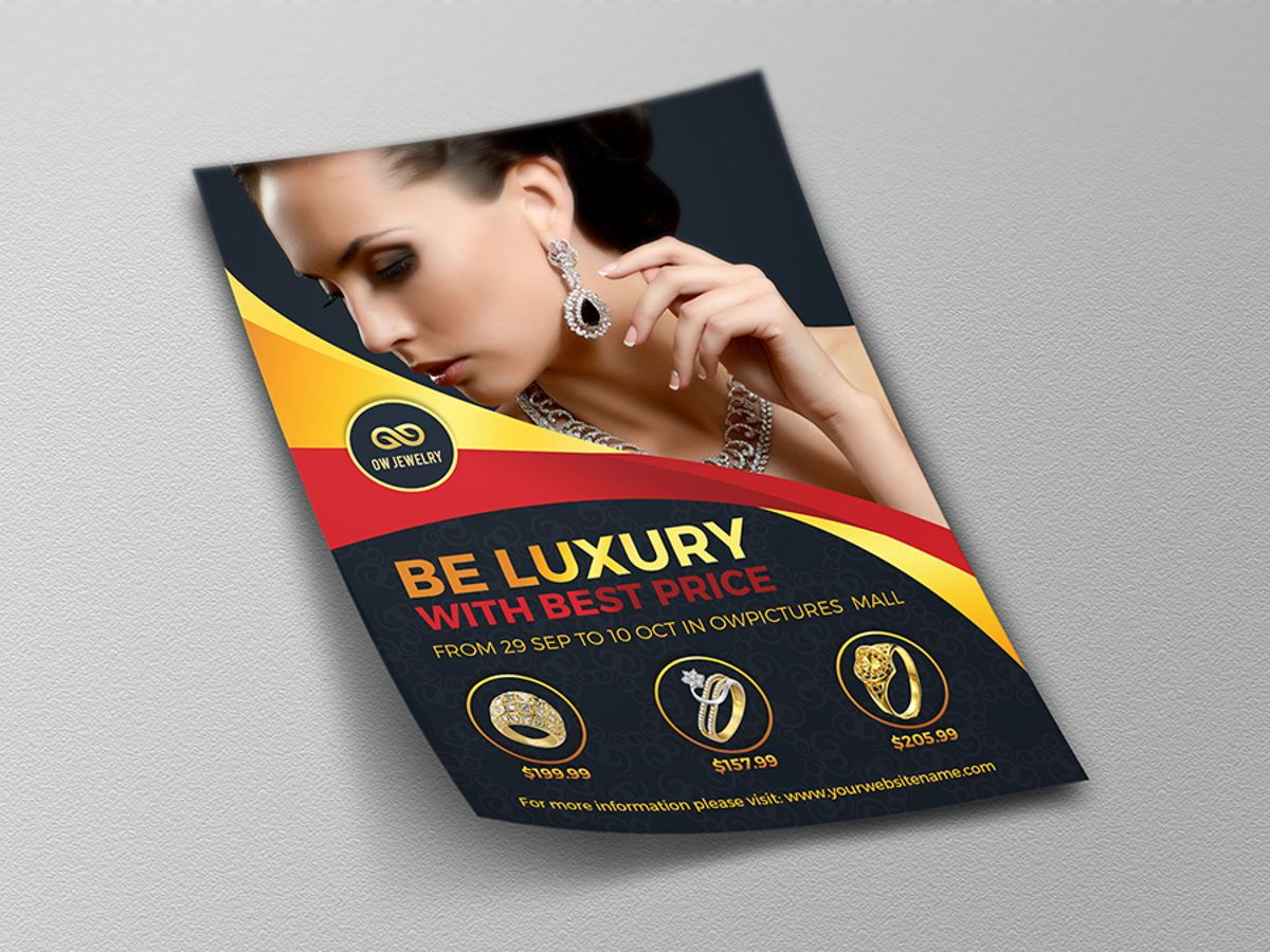 Jewelry Flyer Template, Diapositive 4, 08453, Concepts commerciaux — PoweredTemplate.com