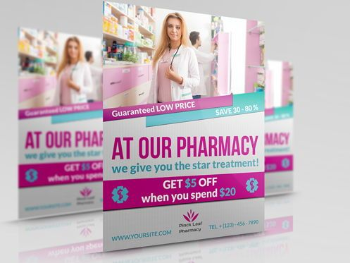 Medical: Pharmacy Flyer Template #08454