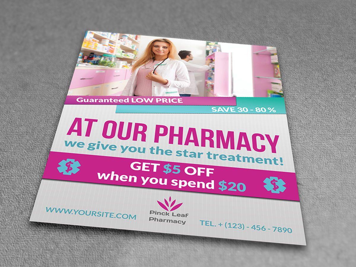 Pharmacy Flyer Template, Diapositive 2, 08454, Médical — PoweredTemplate.com