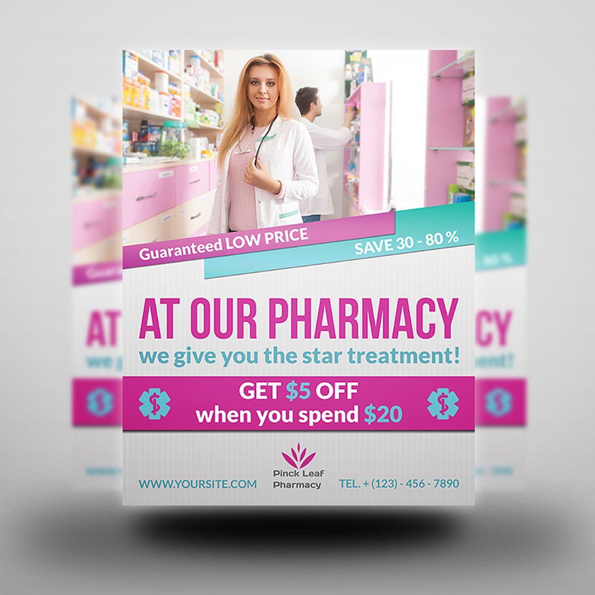 Pharmacy Flyer Template, Diapositive 3, 08454, Médical — PoweredTemplate.com