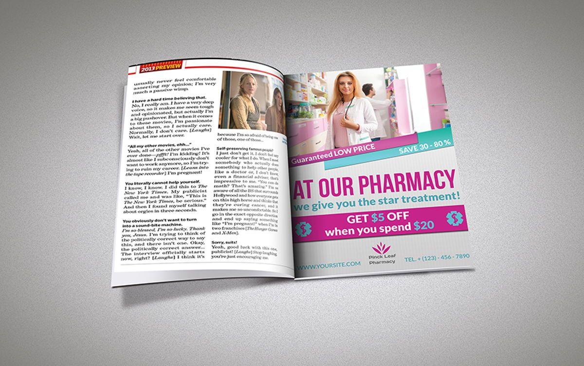Pharmacy Flyer Template, Diapositive 4, 08454, Médical — PoweredTemplate.com