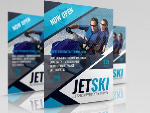 Sports: Jet Ski Flyer Template #08455