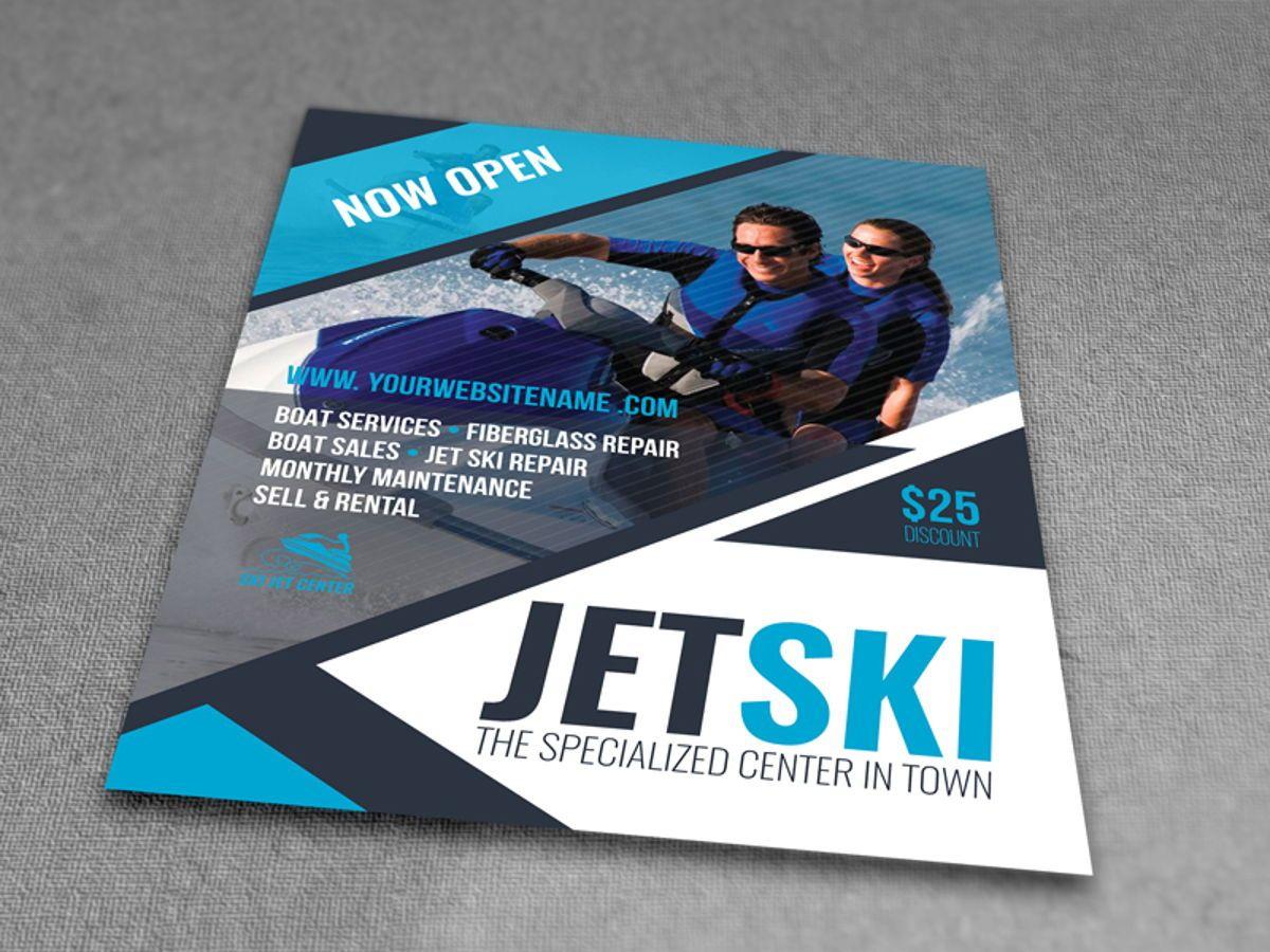Jet Ski Flyer Template, Slide 3, 08455, Sports — PoweredTemplate.com