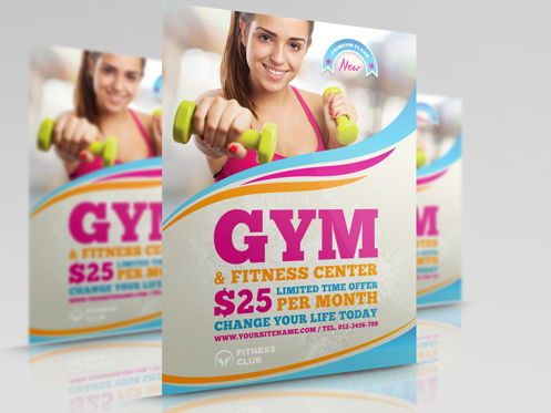 Sports: Fitness - GYM Flyer Template #08456