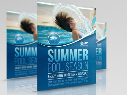 Sports: Swimming Pool Flyer Template #08457