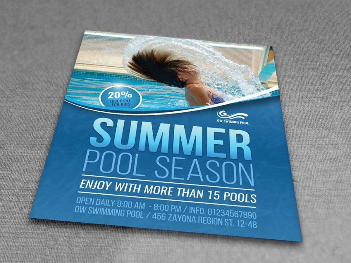 Swimming Pool Flyer Template, Slide 3, 08457, Sports — PoweredTemplate.com