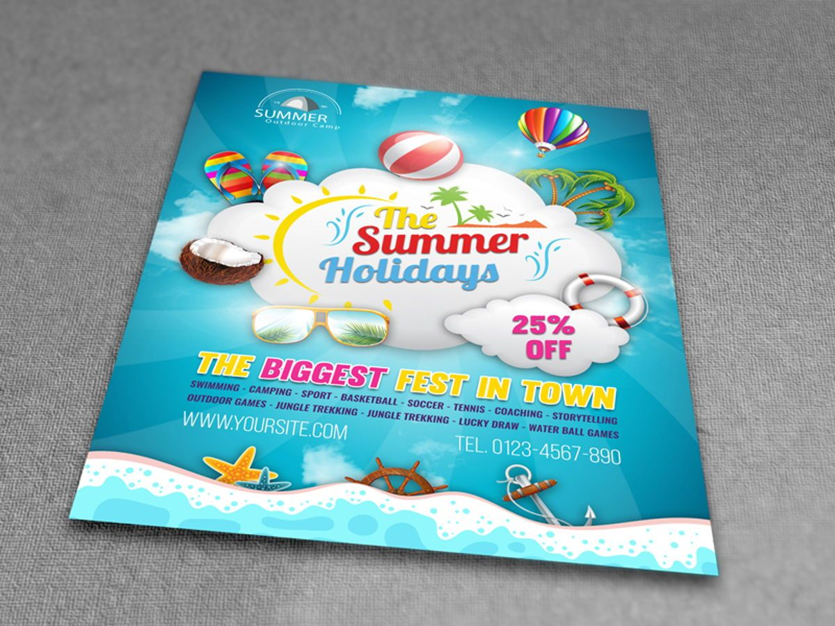 Summer Travel Flyer Template, Slide 3, 08458, Holiday/Special Occasion — PoweredTemplate.com