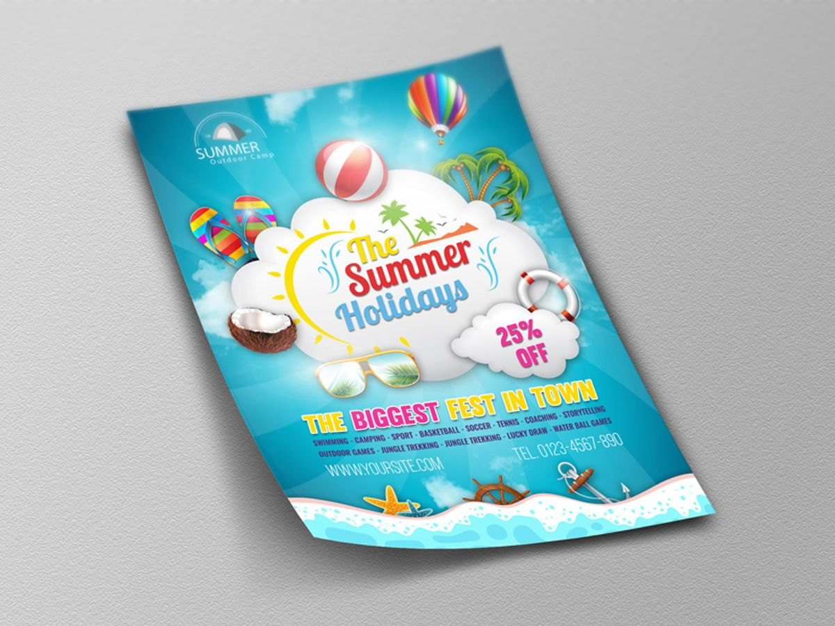Summer Travel Flyer Template, Slide 4, 08458, Holiday/Special Occasion — PoweredTemplate.com