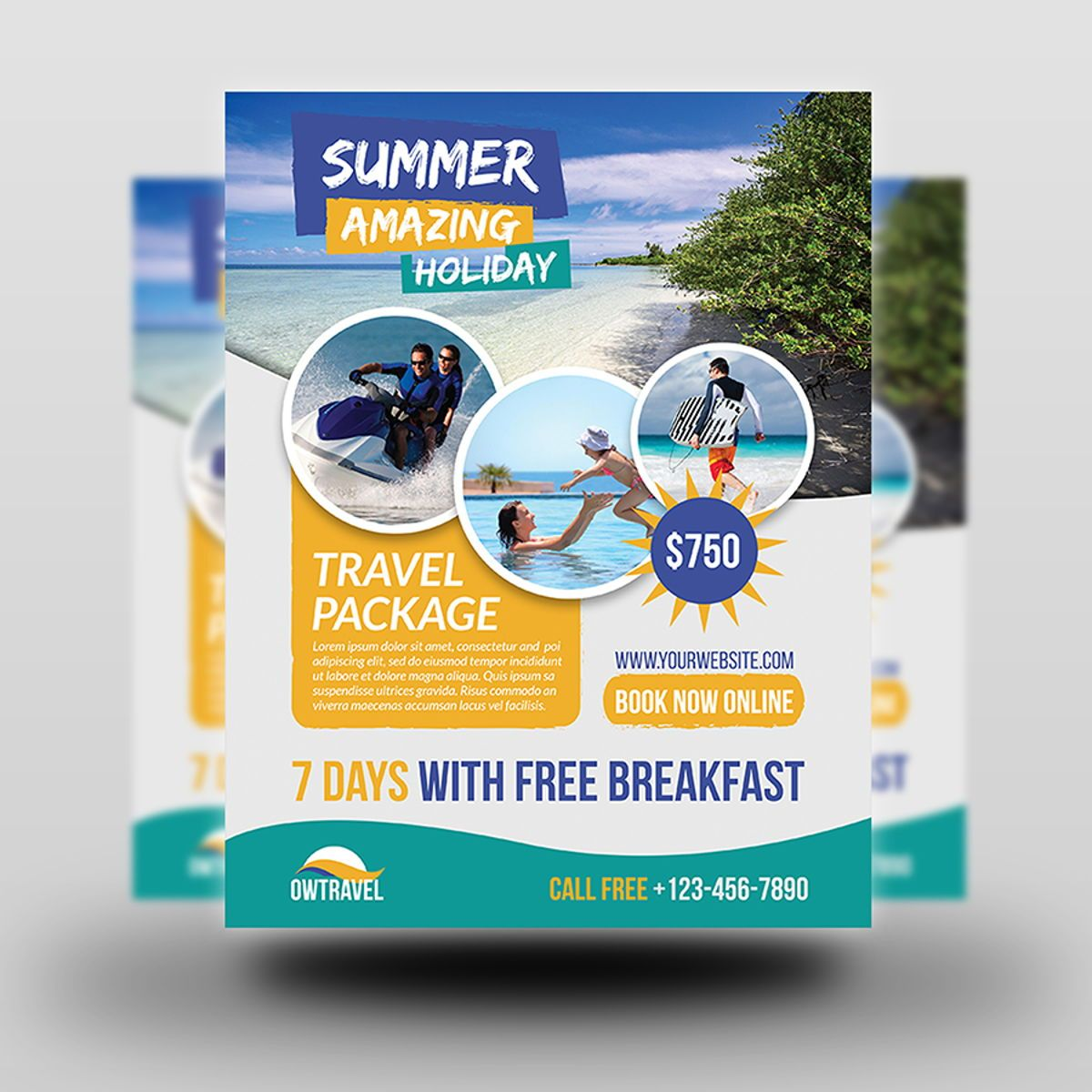Travel Company Flyer Template, Slide 2, 08459, Holiday/Special Occasion — PoweredTemplate.com