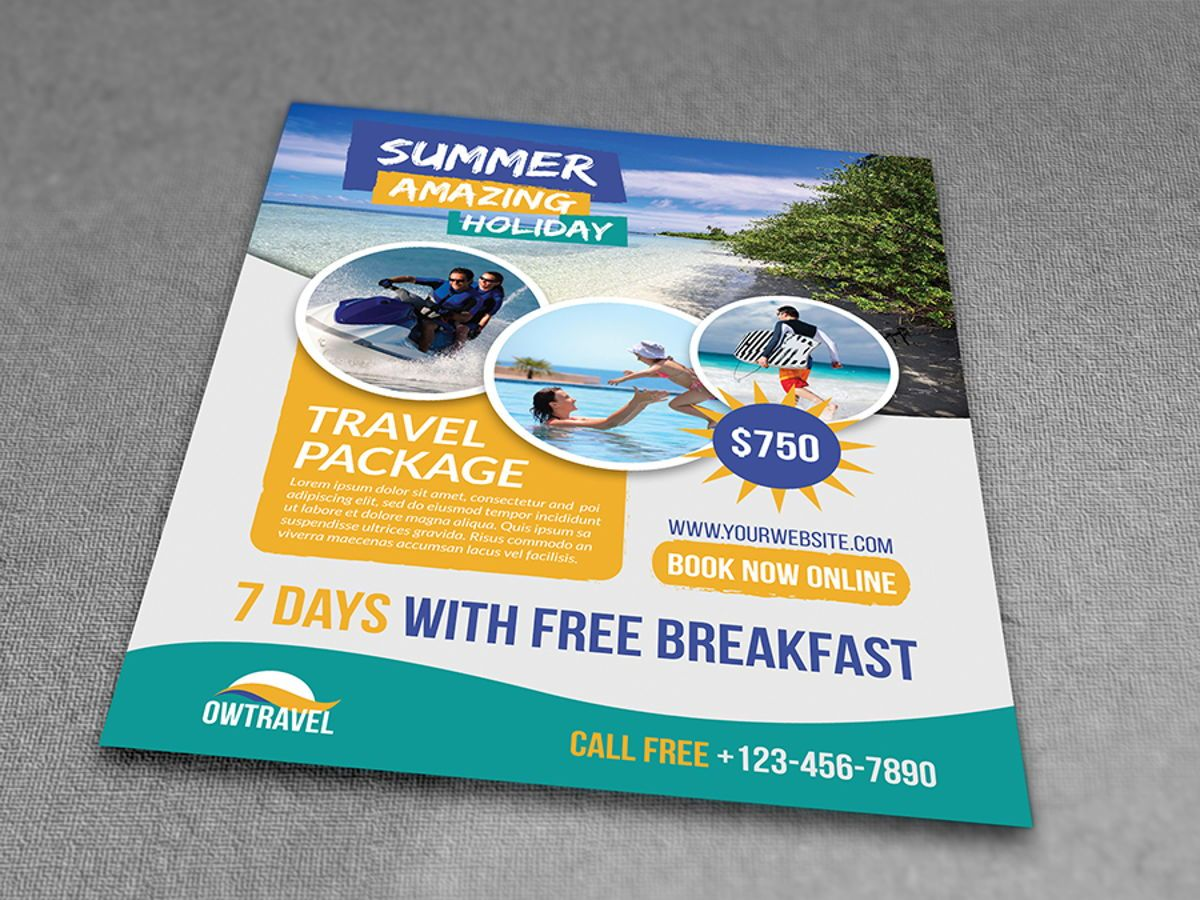 Travel Company Flyer Template, Slide 3, 08459, Holiday/Special Occasion — PoweredTemplate.com