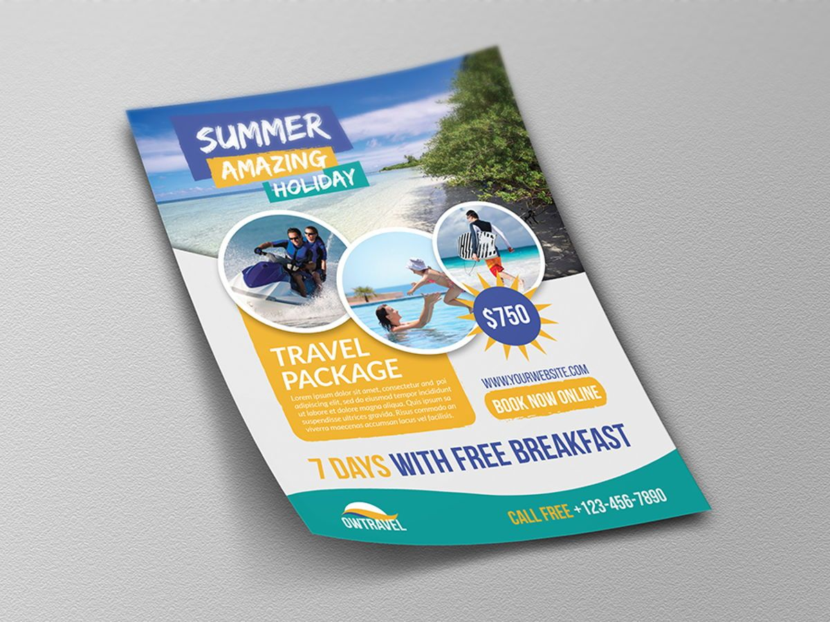 Travel Company Flyer Template, Slide 4, 08459, Holiday/Special Occasion — PoweredTemplate.com