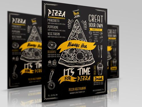 Food & Beverage: Pizza Restaurant Flyer #08460