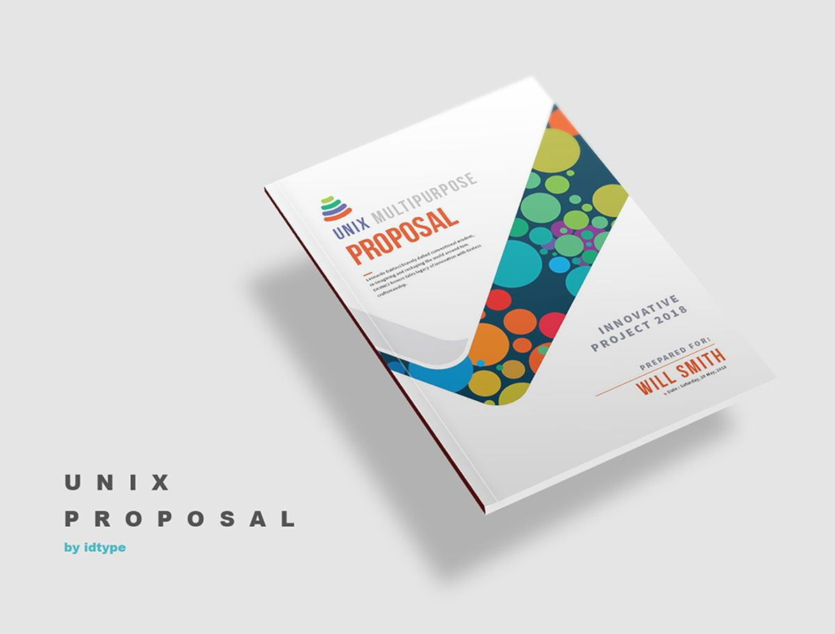 Business Proposal Template Printable Business Brochure InDesign Template 24 pages, 08462, Business — PoweredTemplate.com
