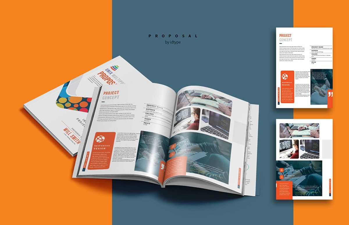 Business Proposal Template Printable Business Brochure InDesign Template 24 pages, Slide 10, 08462, Business — PoweredTemplate.com