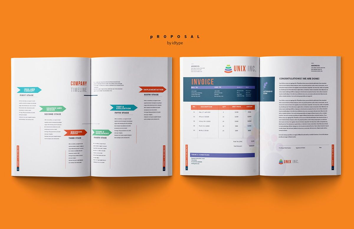 Business Proposal Template Printable Business Brochure InDesign Template 24 pages, Slide 11, 08462, Business — PoweredTemplate.com