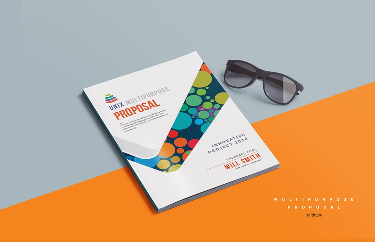 Business Proposal Template Printable Business Brochure InDesign Template 24 pages, Slide 2, 08462, Business — PoweredTemplate.com