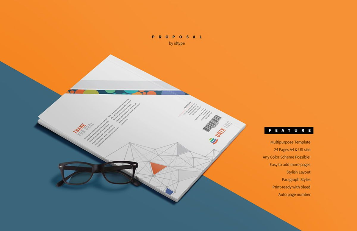 Business Proposal Template Printable Business Brochure InDesign Template 24 pages, Slide 3, 08462, Business — PoweredTemplate.com
