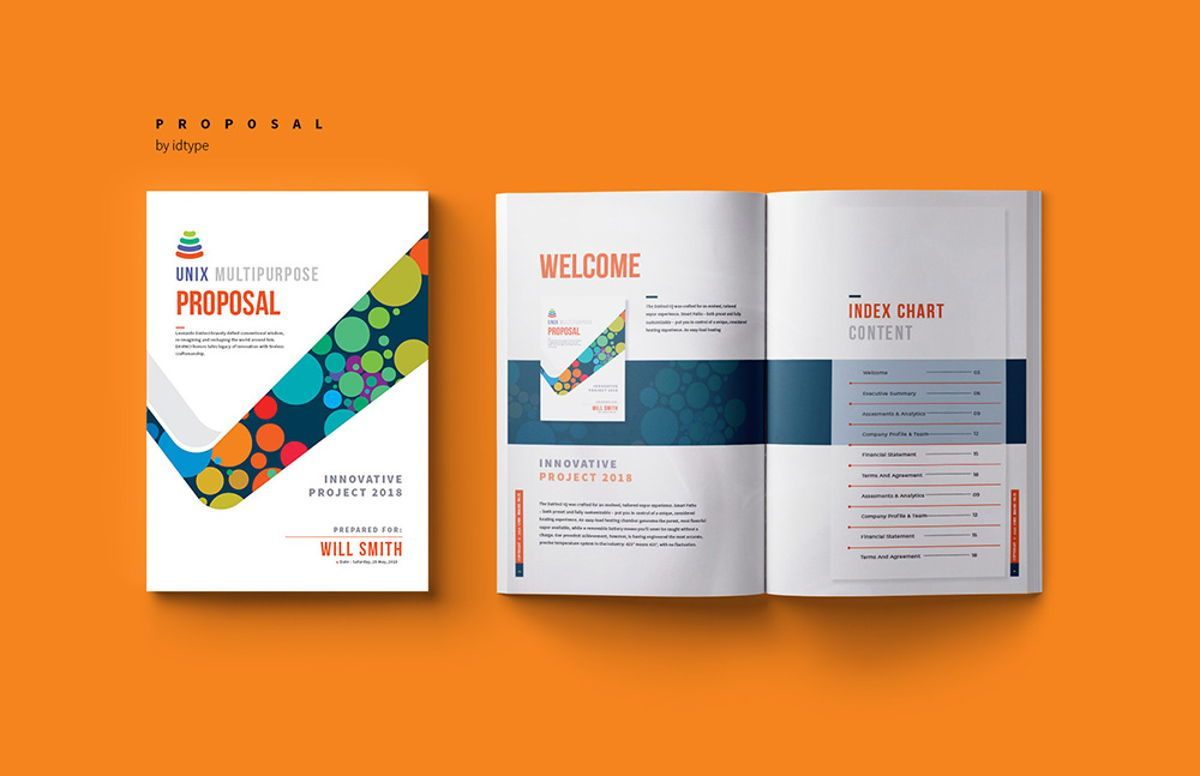 Business Proposal Template Printable Business Brochure InDesign Template 24 pages, Slide 4, 08462, Business — PoweredTemplate.com