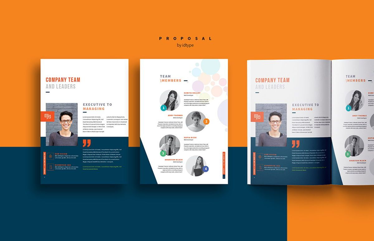 Business Proposal Template Printable Business Brochure InDesign Template 24 pages, Slide 6, 08462, Business — PoweredTemplate.com