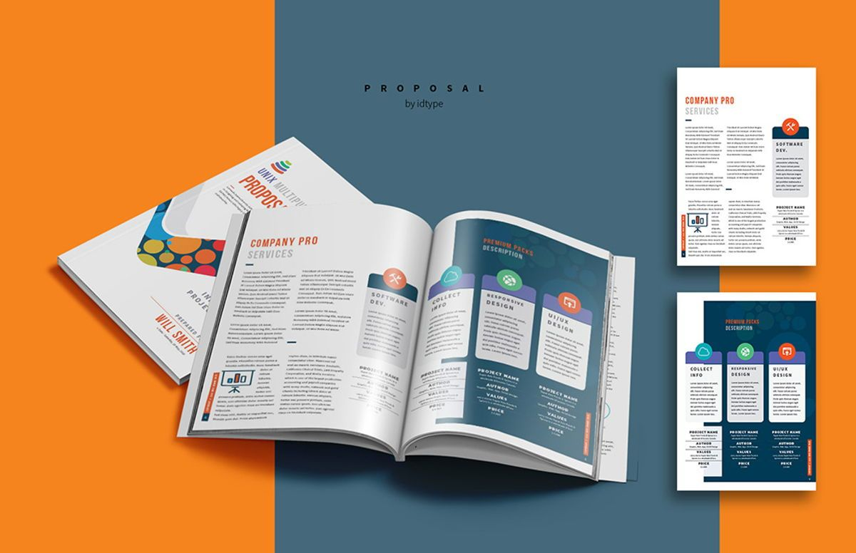 Business Proposal Template Printable Business Brochure InDesign Template 24 pages, Slide 7, 08462, Business — PoweredTemplate.com
