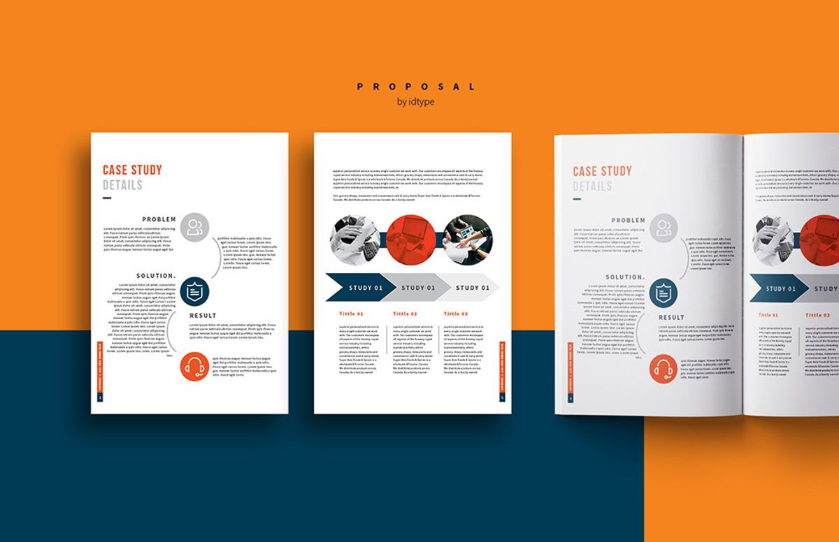 Business Proposal Template Printable Business Brochure InDesign Template 24 pages, Slide 9, 08462, Business — PoweredTemplate.com