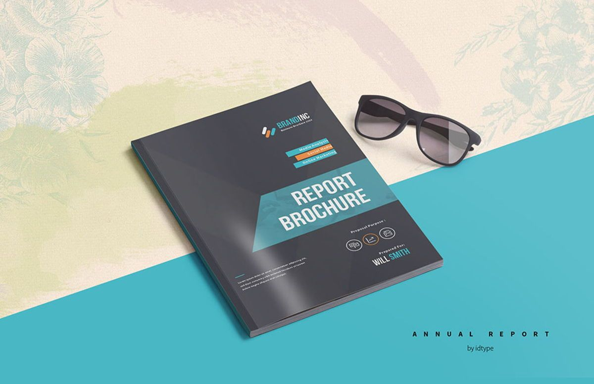Annual Report 2020 Business Template Printable Business Brochure InDesign Template 28 pages V, 08463, Business — PoweredTemplate.com