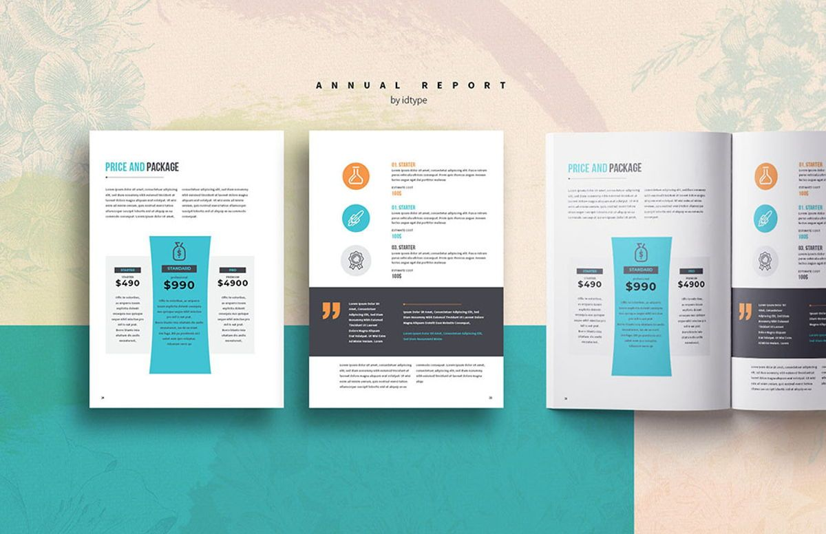 Annual Report 2020 Business Template Printable Business Brochure InDesign Template 28 pages V, Slide 10, 08463, Business — PoweredTemplate.com