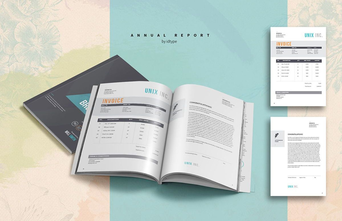 Annual Report 2020 Business Template Printable Business Brochure InDesign Template 28 pages V, Slide 11, 08463, Business — PoweredTemplate.com