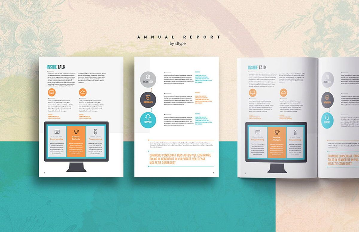 Annual Report 2020 Business Template Printable Business Brochure InDesign Template 28 pages V, Slide 4, 08463, Business — PoweredTemplate.com