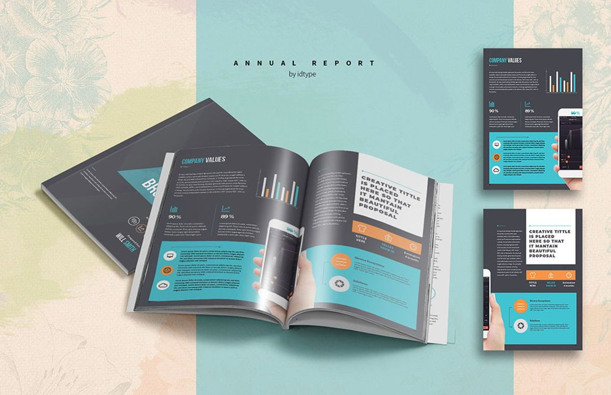 Annual Report 2020 Business Template Printable Business Brochure InDesign Template 28 pages V, Slide 5, 08463, Business — PoweredTemplate.com