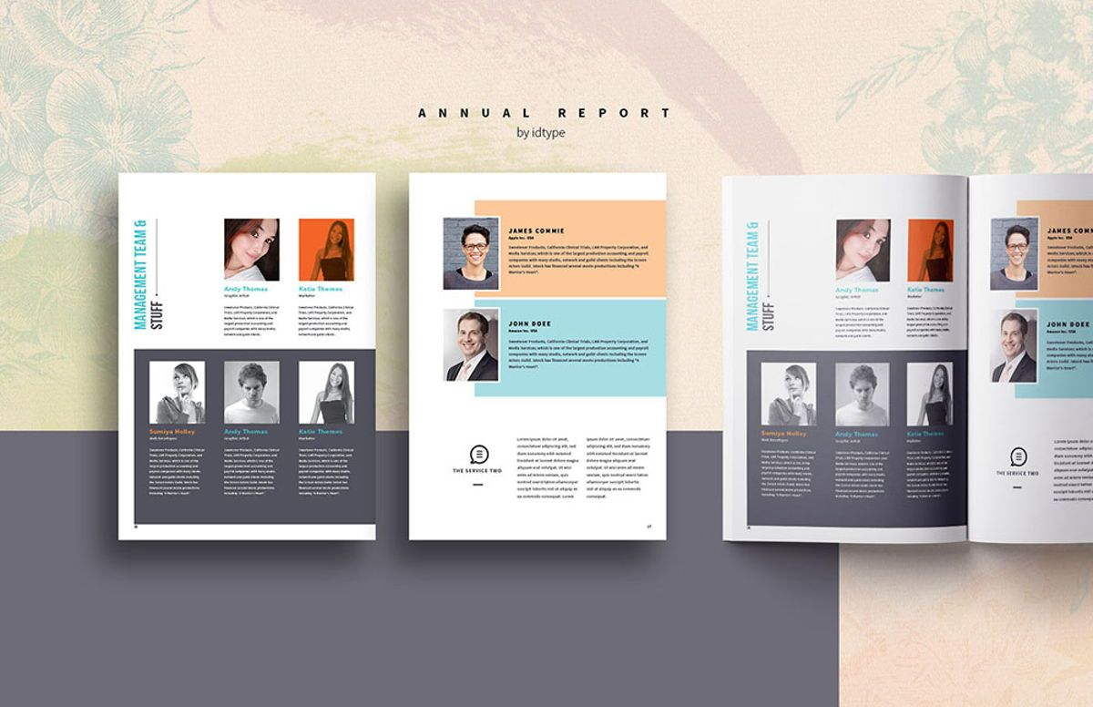 Annual Report 2020 Business Template Printable Business Brochure InDesign Template 28 pages V, Slide 7, 08463, Business — PoweredTemplate.com
