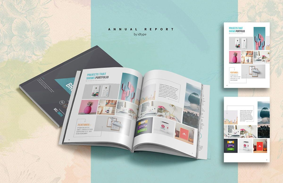 Annual Report 2020 Business Template Printable Business Brochure InDesign Template 28 pages V, Slide 8, 08463, Business — PoweredTemplate.com
