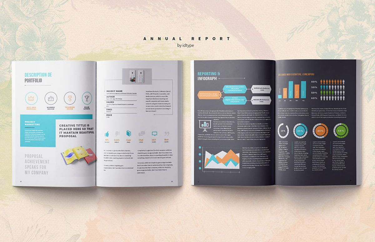 Annual Report 2020 Business Template Printable Business Brochure InDesign Template 28 pages V, Slide 9, 08463, Business — PoweredTemplate.com