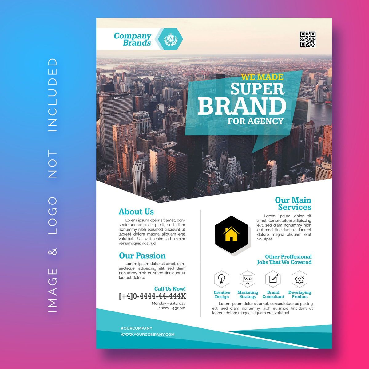 Corporate Business Flyer, 08468, Abstract/Textures — PoweredTemplate.com