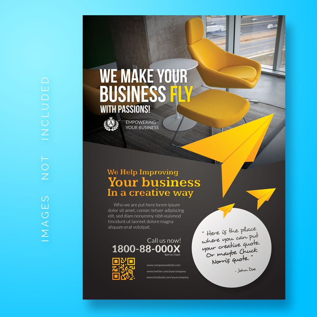 Corporate Flyer Template, 08469, Business — PoweredTemplate.com