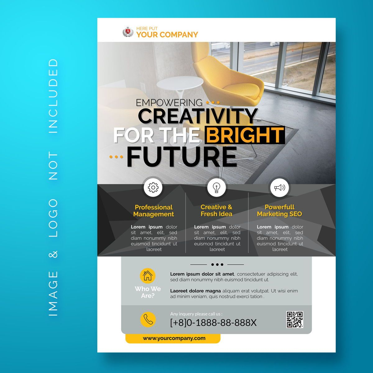 Corporate Business Flyer Template, 08470, Business — PoweredTemplate.com